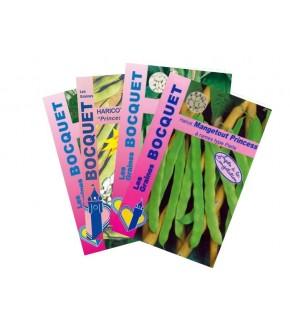 Lot de Haricots Verts à Rames (4 sachets de graines à semer)