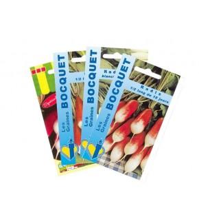 Lot de Radis Allongés (4 sachets de graines à semer)