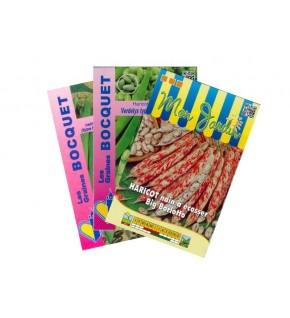 Lot de Haricot à Ecosser Coloré (3 sachets de graines à semer)