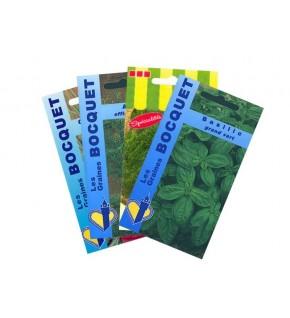 Lot de Plantes Aromatiques spéciales Salades (4 sachets de graines à semer)