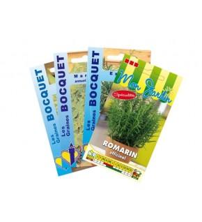 Lot de Plantes Aromatiques spéciales Viandes (4 sachets de graines à semer)