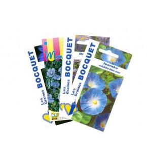Lot de Fleurs Bleues (4 sachets de graines à semer)