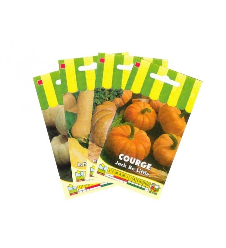 Lot de Courges (4 sachets de graines à semer)