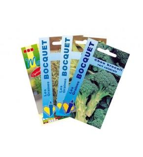 Lot de Chou Brocoli et Plantes Aromatiques