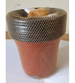 8 pots ronds 9 cm en plastique