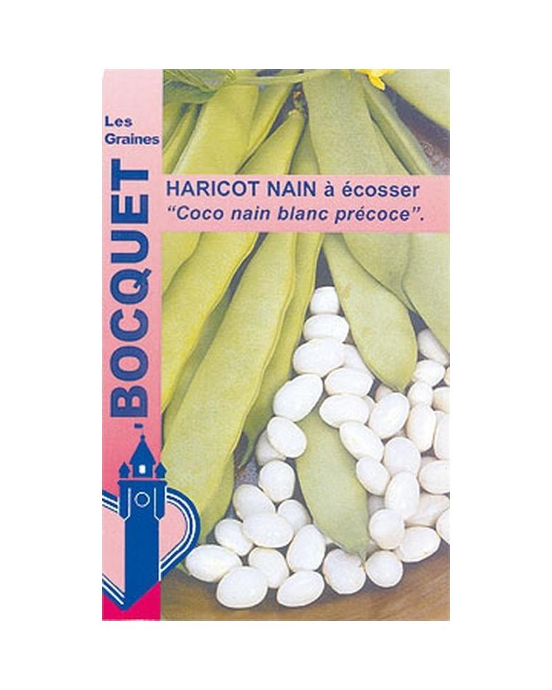 Haricot nain à écosser coco blanc précoce 115g