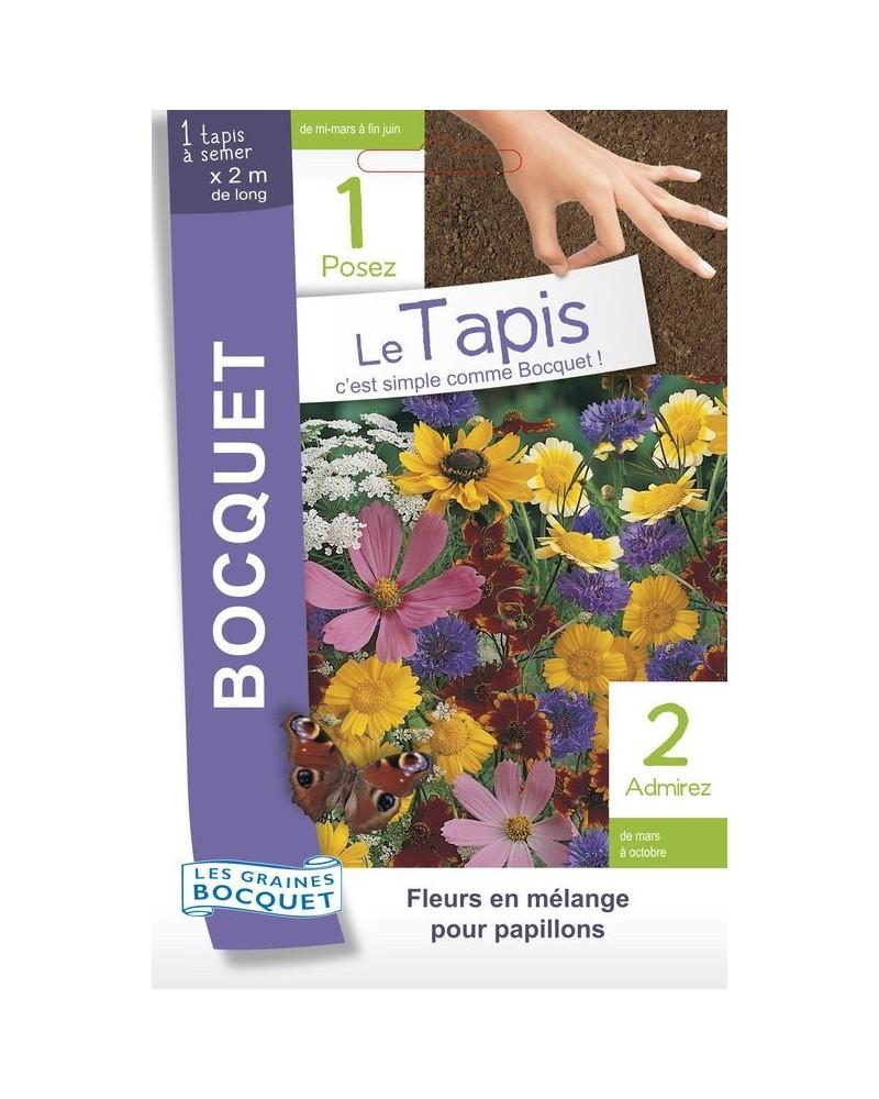 Tapis de graines de fleurs à papillons en mélange