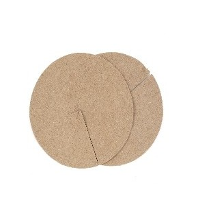 Lot de 2 disques de paillage en feutre de jute