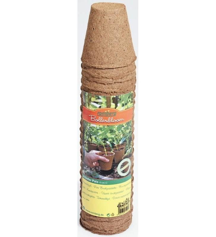 24 pots ronds 6cm biodégradables