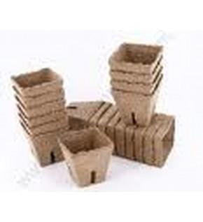 12 pots carrés 8cm biodégradables