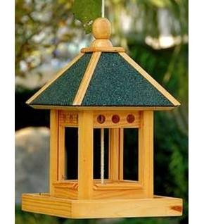Maisonnette distributeur aliments oiseaux carrée