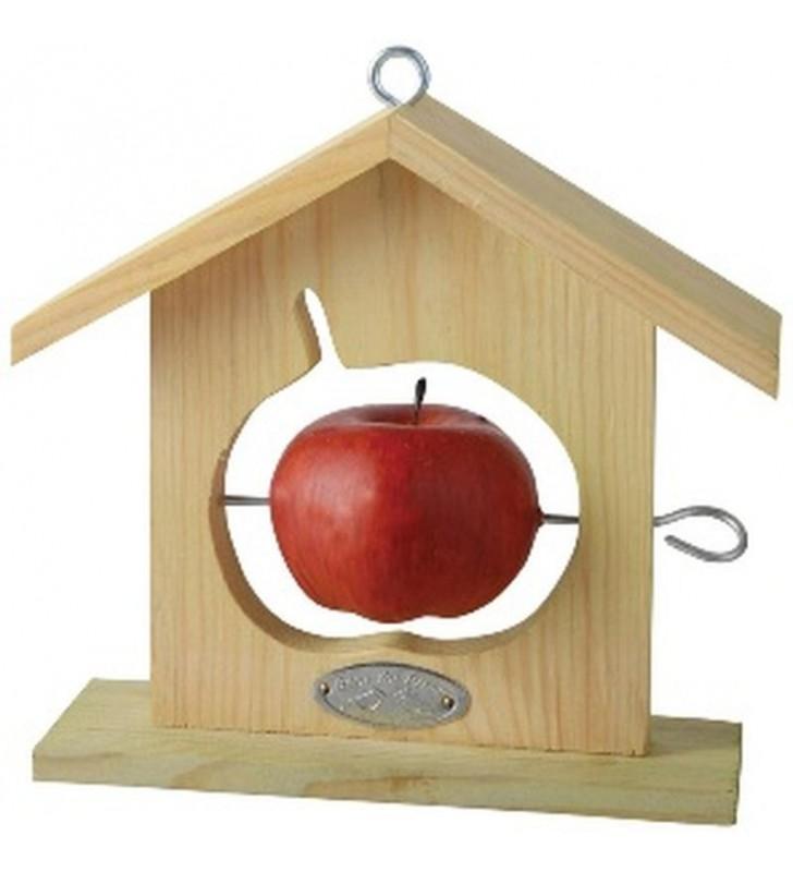 Maison à pomme pour oiseaux forme POMME