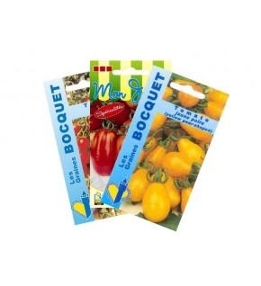 Lot de Tomates spéciales Apéritif (3 sachets de graines à semer)